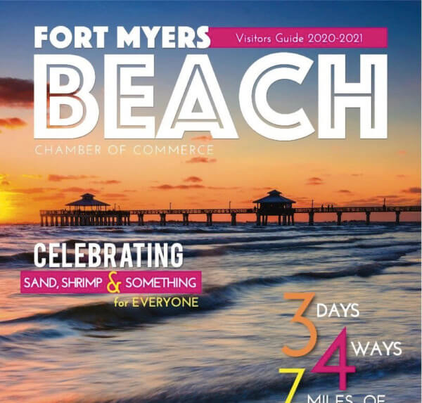 Partial cover image of the Fort Myers Beach Chamber Visitor's Guide.