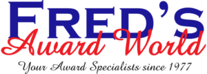 Logo for Fred's Award World, awards specialist in Fort Myers, FL.
