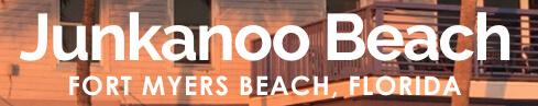 Logo reads Junkanoo Beach Fort Myers Beach Florida.