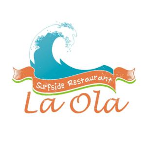 Logo for La Ola Surfside Restaurant. Located in Times Square on Fort Myers Beach.
