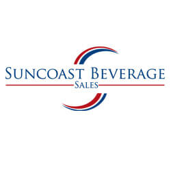 Logo for Suncoast Beverages, a beverage distributer in Fort Myers FL.