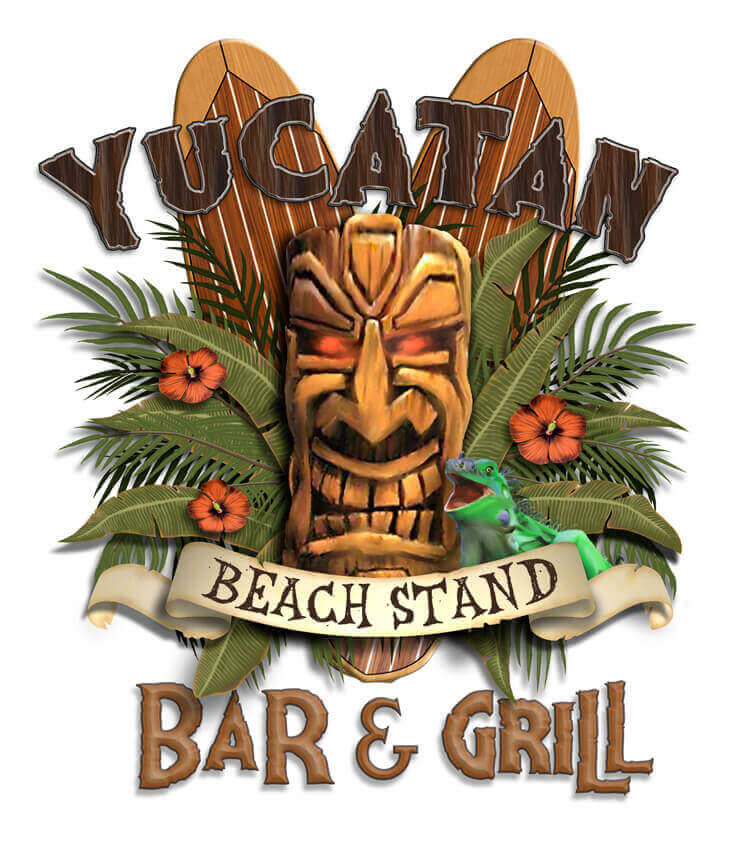 Logo for Yucatan Beach Stand, a restaurant on Fort Myers Beach.