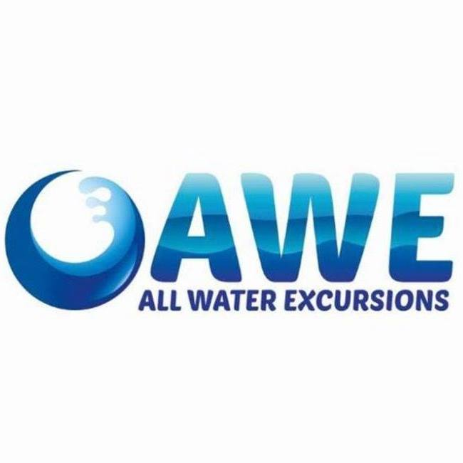 Logo for All Water Excursions, a boat tour company in Naples, FL.