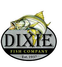 Logo for the Dixie Fish Company, a restaurant on Fort Myers Beach.