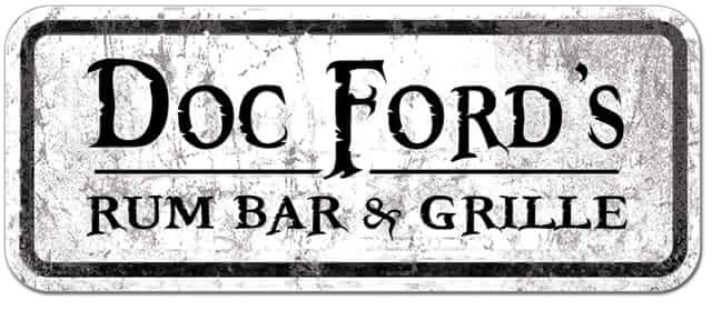 Logo for Doc Fords Rum Bar & Grille, a restaurant on Fort Myers Beach.