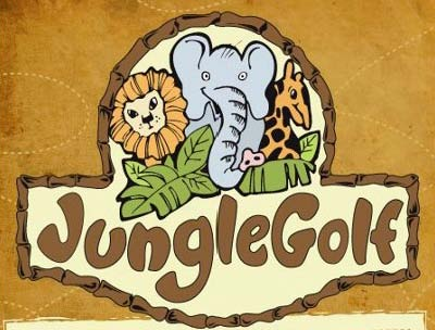 Logo for Jungle Golf Miniature Golf on Fort Myers Beach.