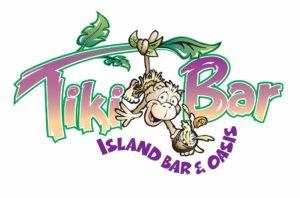 Logo for the Tiki Bar restaurant at the Lighthouse Resort on Fort Myers Beach.