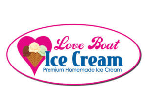 Logo for Love Boat Homemade Ice Cream, near Fort Myers Beach.
