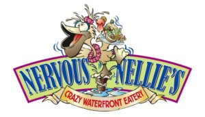 Logo for Nervous Nellie's Crazy Waterfront Eatery, on Fort Myers Beach.