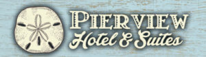 Logo for Pierview Hotel & Suites on Fort Myers Beach.