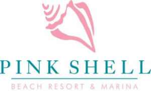 Logo for the Pink Shell Beach Resort & Marina, a full service resort on Fort Myers Beach.
