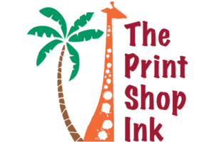 Logo for the Print Shop Ink, a photocopy business on Fort Myers Beach.