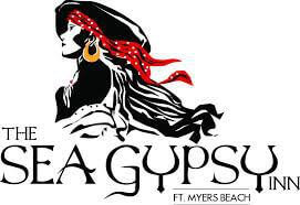 Logo for the Sea Gypsy Inn, a small inn located on Fort Myers Beach.