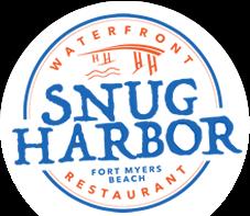 Logo for Snug Harbor Waterfront Restaurant.