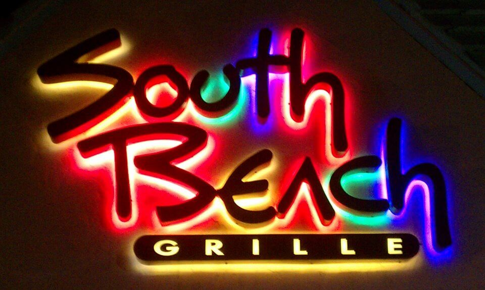 Logo for the South Beach Grille.