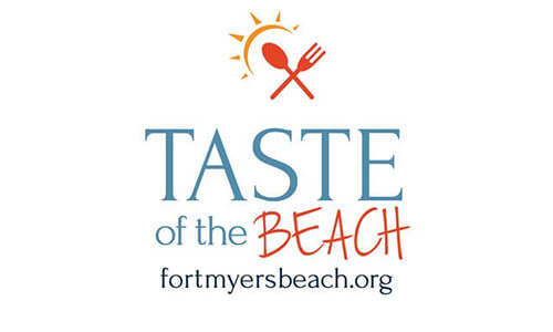 Logo for the Taste of the Beach event on Fort Myers Beach.
