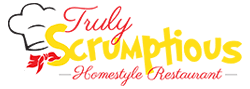 Logo for Truly Scrumptious Homestyle Restaurant on Fort Myers Beach.