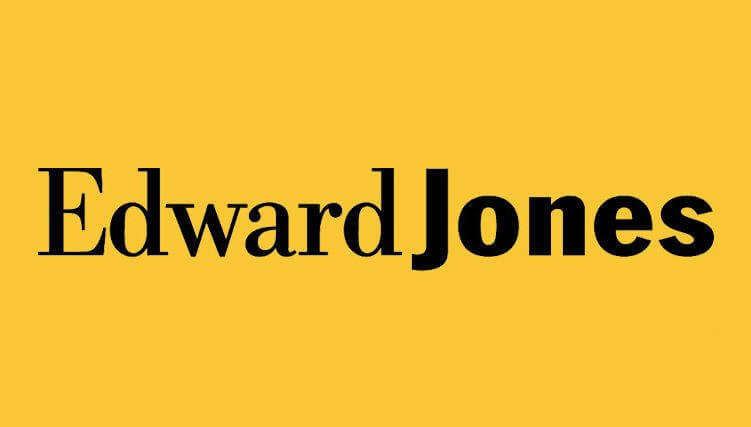 Logo for Edward Jones, a wealth management company.