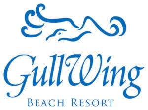Logo for GullWing Beach Resort, a beachfront accommodation on Fort Myers Beach.