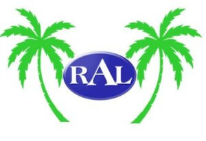 Logo for vacation rental and property management company RAL Resorts.