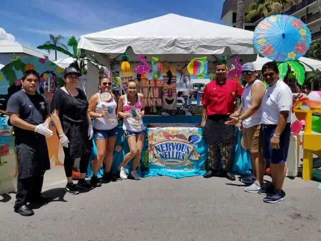 Nervous Nellies Booth with staff at the Taste of the Beach.