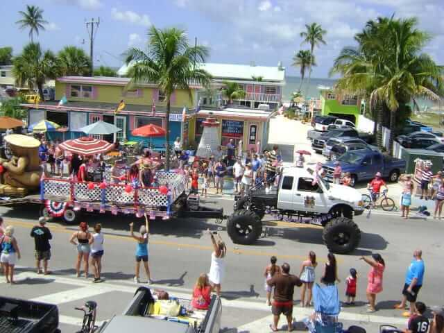 Yucatan Beach Stand's float in the Fort Myers Beach Fourth of July Parade. Its a
