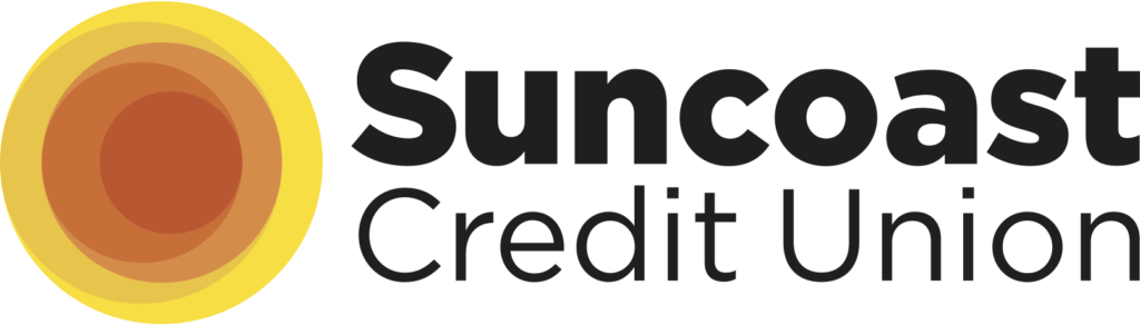 Logo for suncoast credit union.
