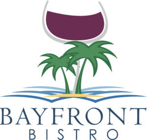Logo for the Bayfront Bistro, a waterfront restaurant on Fort Myers Beach.