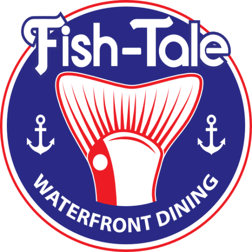 Logo for Fish Tale Waterfront Dining on Fort Myers Beach.