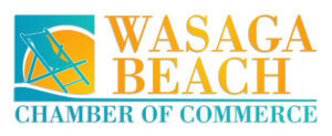 Logo for the Wasaga Beach Chamber of Commerce in Ontario.