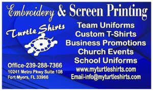 Turtle Shirts Embroidery and Screen Printing logo.