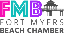 Logo for the Fort Myers Beach Chamber of Commerce.