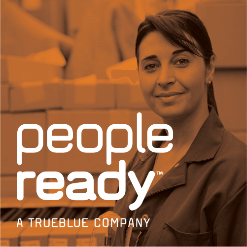 Logo for Peopleready, an employment and staffing service.