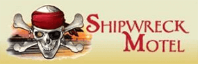 Logo for the Shipwreck Motel.