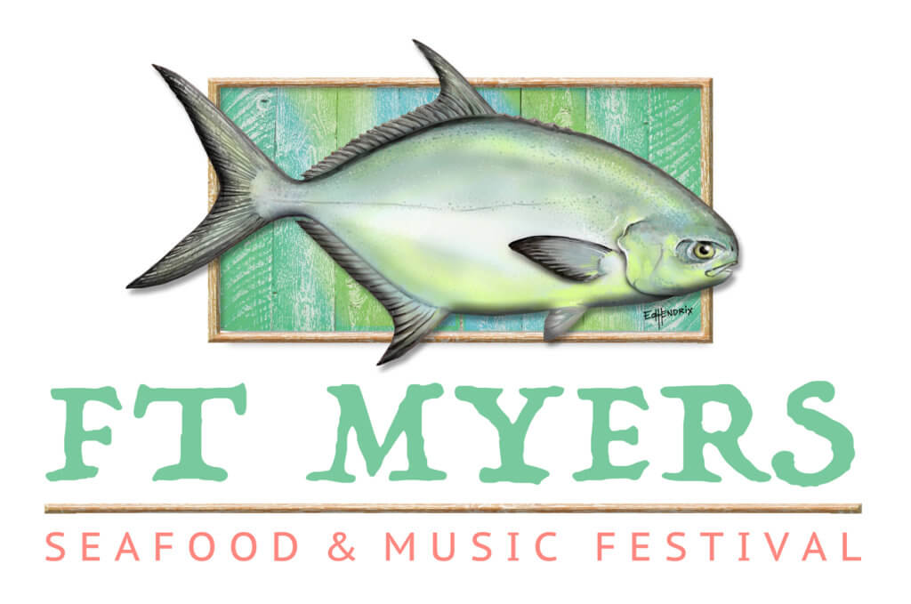 Logo for the Fort Myers Seafood & Music Festival