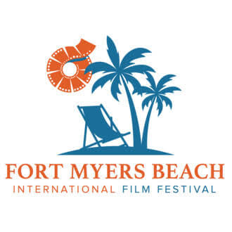 Logo for the Fort Myers Beach International Film Festival.