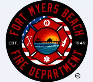 Logo for the Fort Myers Beach Fire Department.