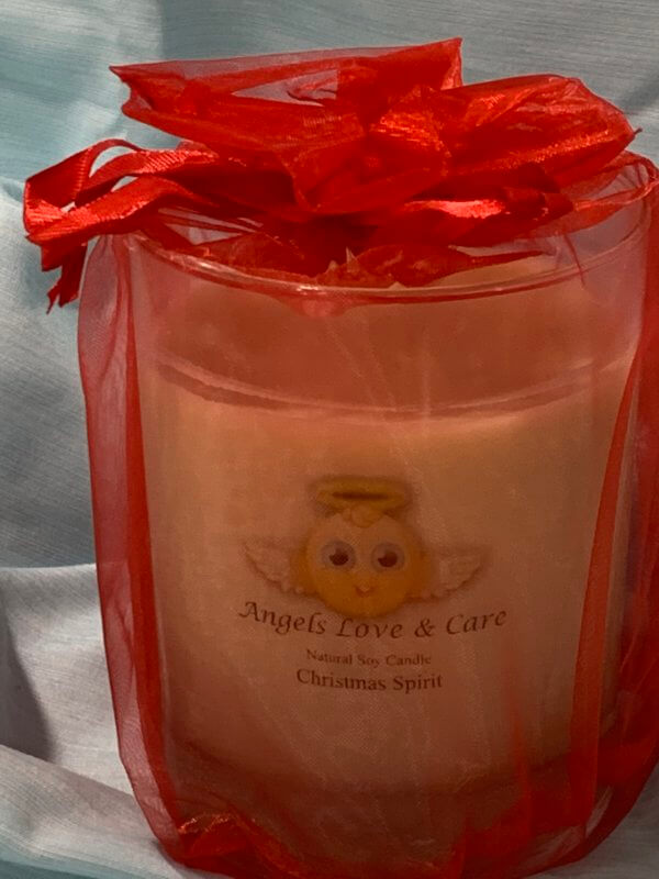 Spice up the holidays with this Christmas Spirit scented candles.