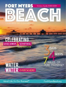 Cover for the 2020-21 Fort Myers Beach Chamber Visitor's Guide.
