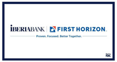 iBERIBANK and First Horizon joint logo.