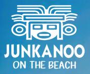 Logo for Junkanoo on the Beach.
