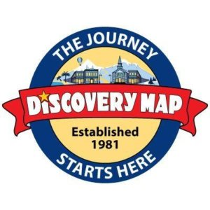 Logo for Discovery Map - the journey starts here. Established 1981